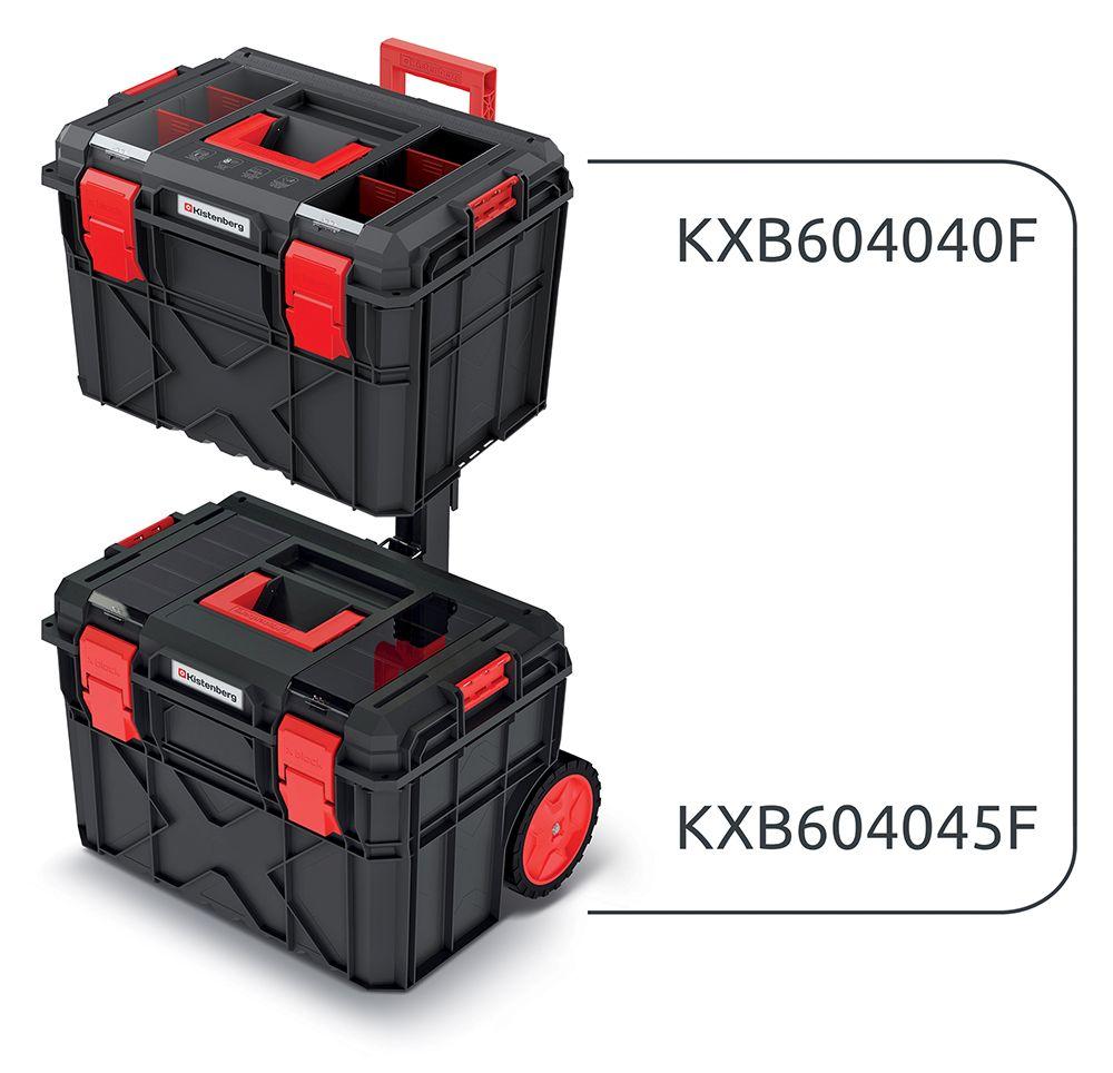 PROSPERPLAST Set kufrů na nářadí a organizéru X BLOCK LOG 546x380x785