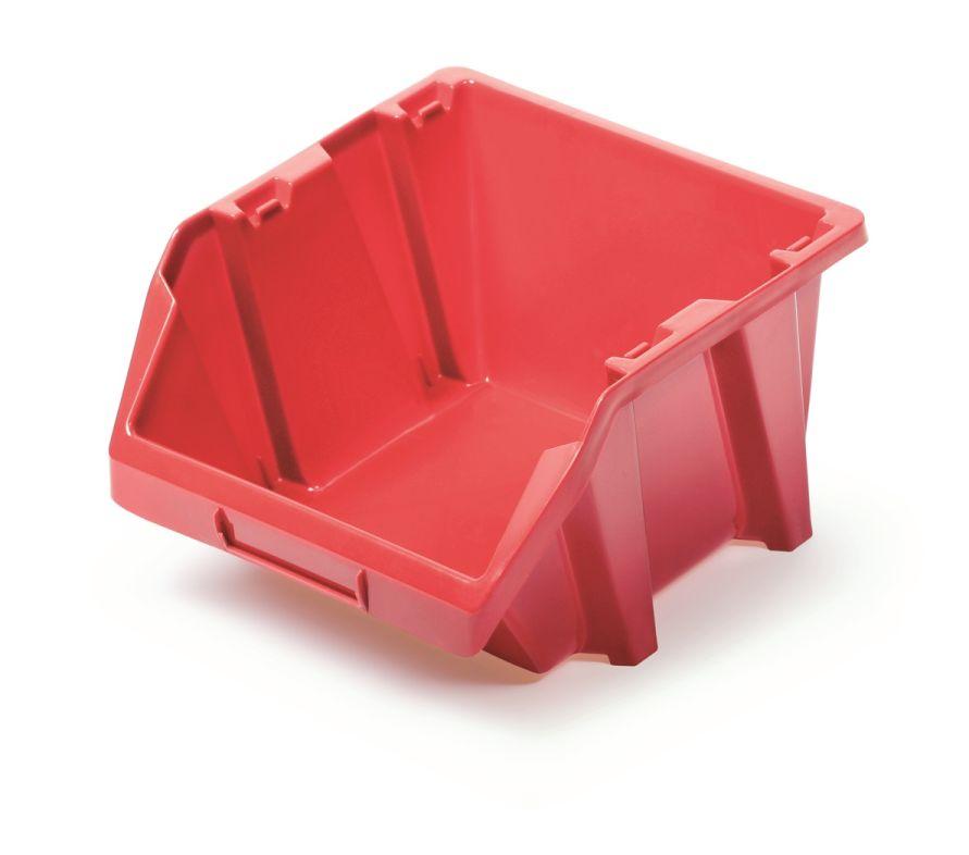 PROSPERPLAST Plastový úložný box BINEER SHORT 92x77x60 červený