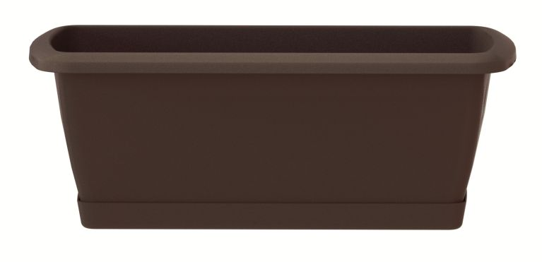 PROSPERPLAST Truhlík s miskou RESPANA SET hnědý 78,6 cm