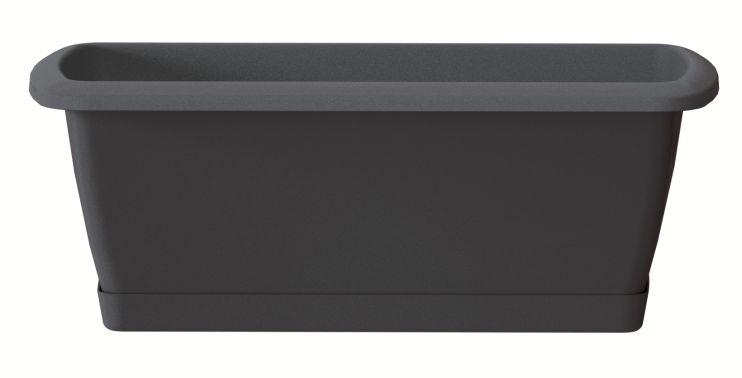 PROSPERPLAST Truhlík s miskou RESPANA SET antracit 49,0 cm
