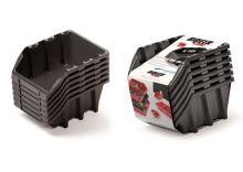 Set plastových úložných boxů 6ks BINEER LONG SET 249x158x213 černý