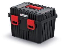 Kufr na nářadí HEAVY černý (vklad; vnější přihrádky)