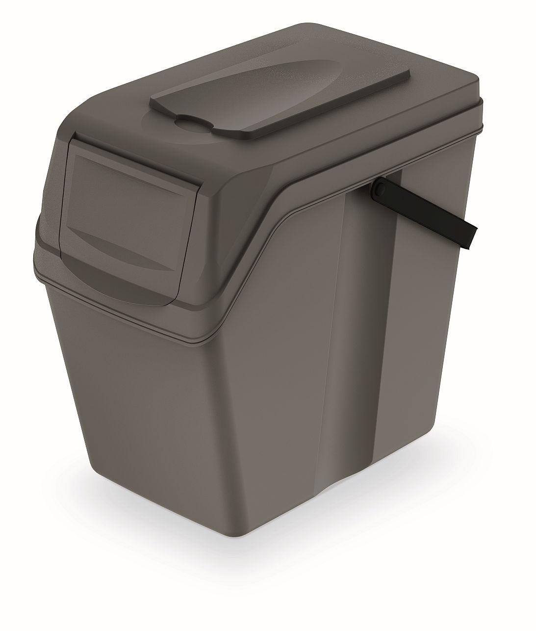 PROSPERPLAST Odpadkový koš SORTIBOX II šedý kámen, objem 25L