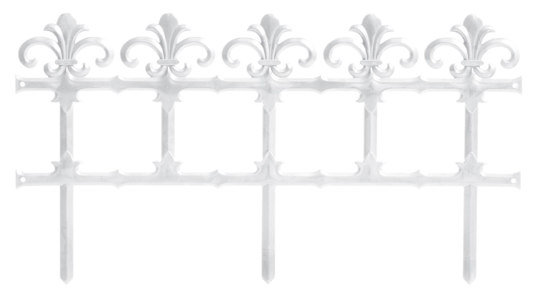 PROSPERPLAST Plůtek zahradní GARDEN ART bílý 372cm