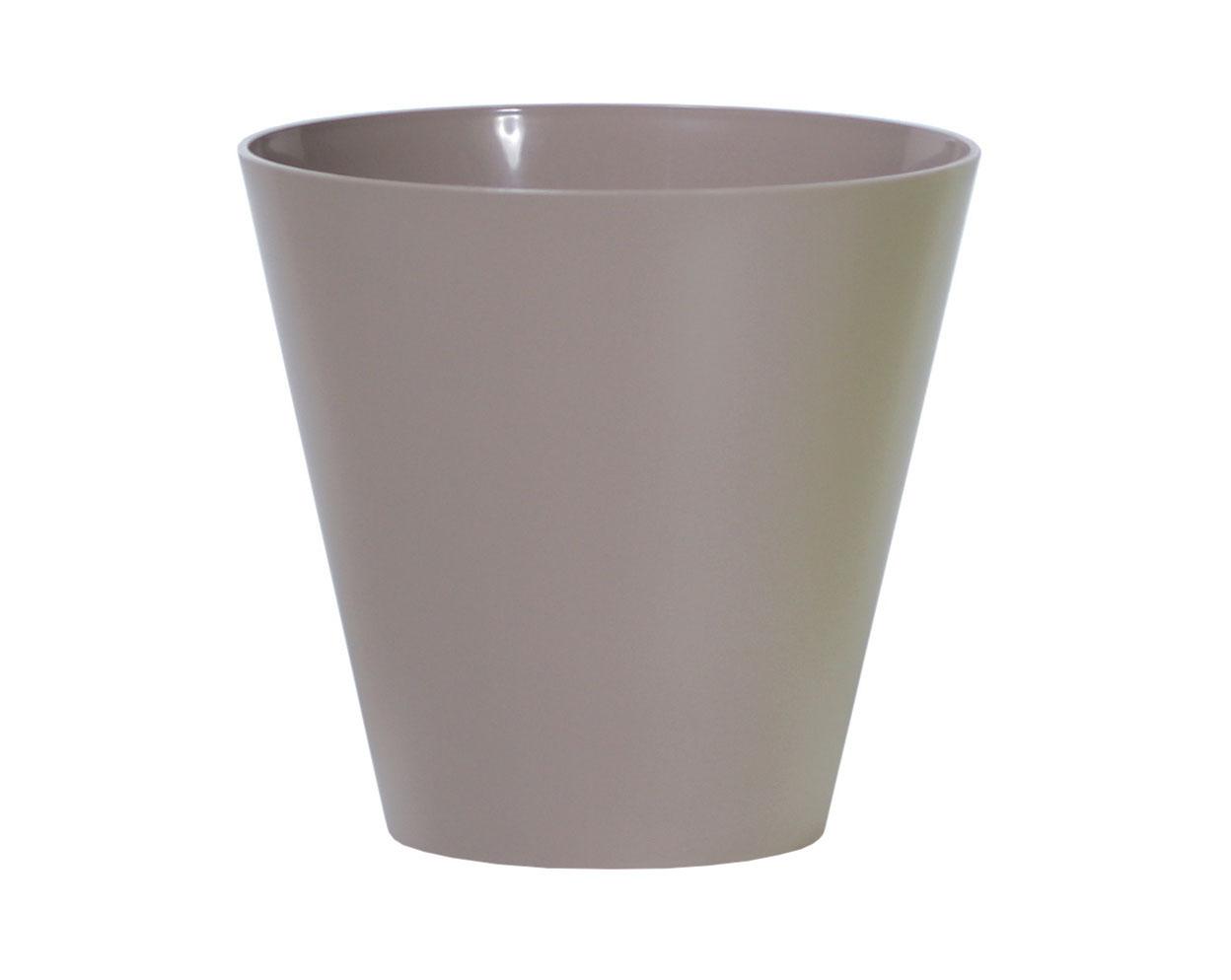 PROSPERPLAST Květináč TUBUS mocca 20,0cm
