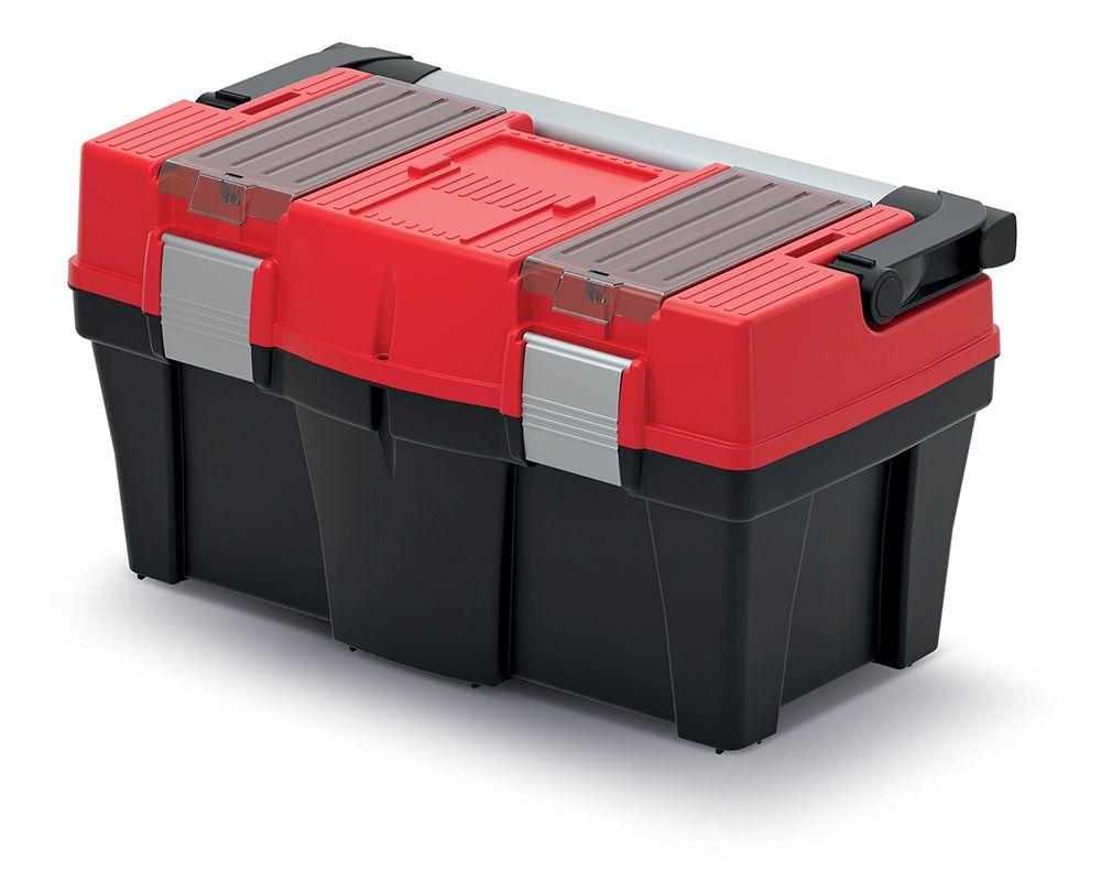 PROSPERPLAST Plastový kufr na nářadí APTOP PLUS červený 458x257x245
