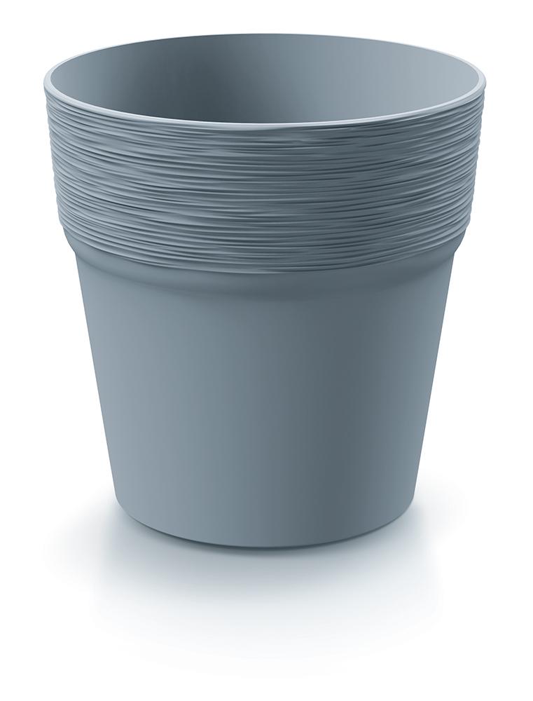 PROSPERPLAST Květináč FURU světle šedý 12cm