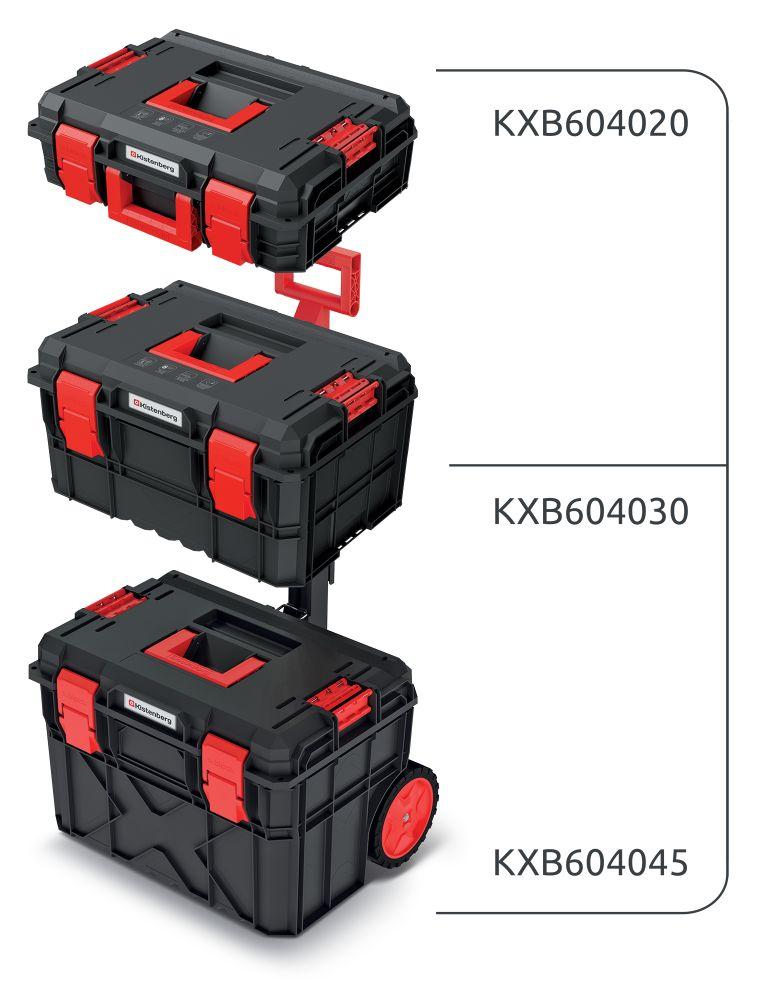PROSPERPLAST Set kufrů na nářadí a organizéru X BLOCK PRO 546x380x870