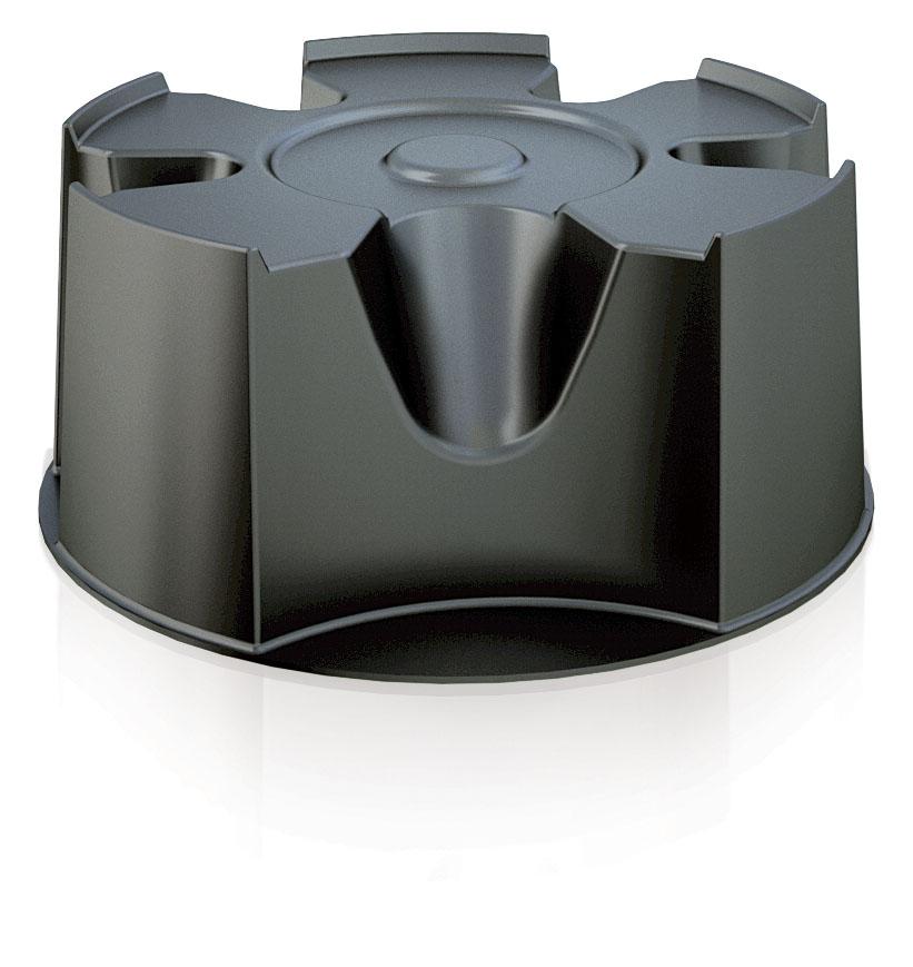 PROSPERPLAST Podstavec pod sud na dešťovou vodu BASECAN černý