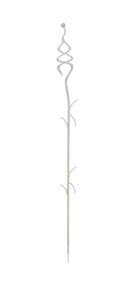 PROSPERPLAST Podpěra na orchidej DECOR II bílá transparentní 55 cm
