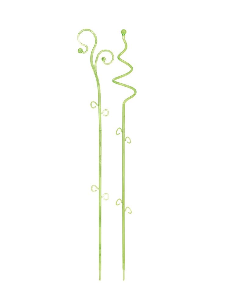 PROSPERPLAST Podpěra na orchidej DECOR I zelená transparentní 58,5 cm
