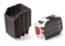Set úložných boxů 12ks BINEER LONG SET 190x77x120 černý