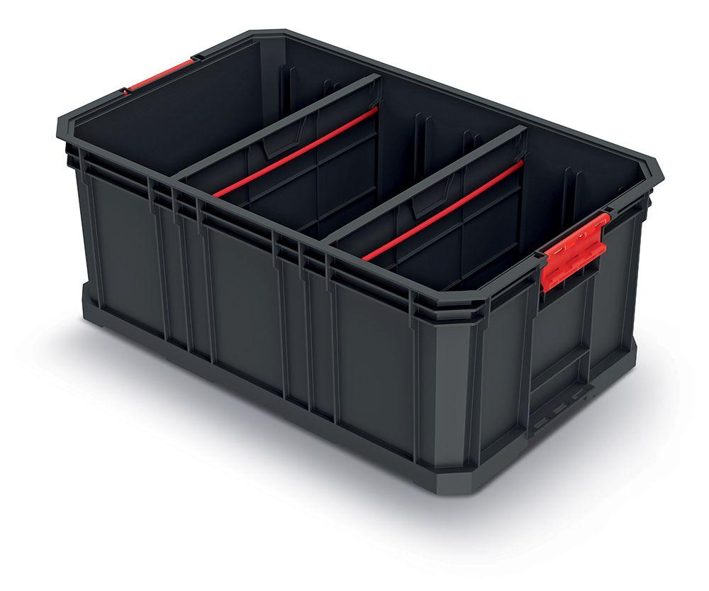 PROSPERPLAST Modulární přepravní box s 2 přepážkami MODULAR SOLUTION 520x329x210