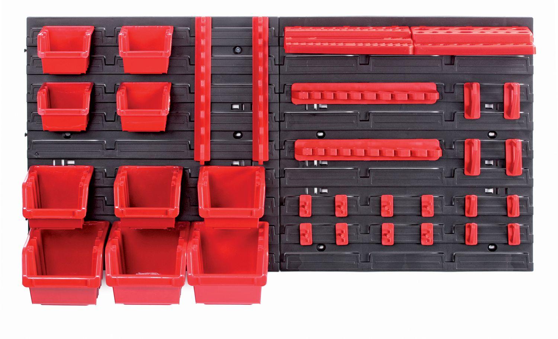 PROSPERPLAST Závěsný panel s 10 boxy a 22 držáky na nářadí ORDERLINE 800x165x400