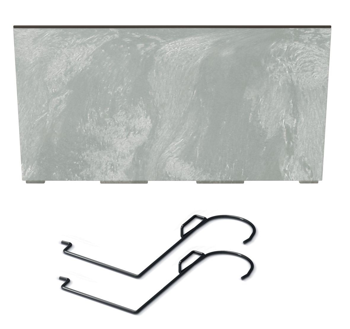 PROSPERPLAST Truhlík s háky URBI CASE BETON EFFECT W beton 58cm