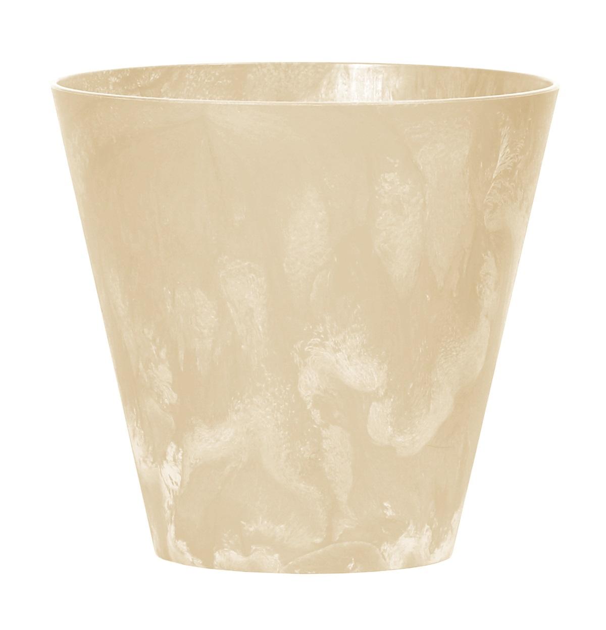 PROSPERPLAST Květináč TUBUS BETON EFFECT pískový 25cm