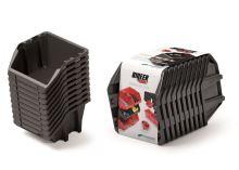 Set úložných boxů 10ks BINEER SHORT SET 288x158x187 černý