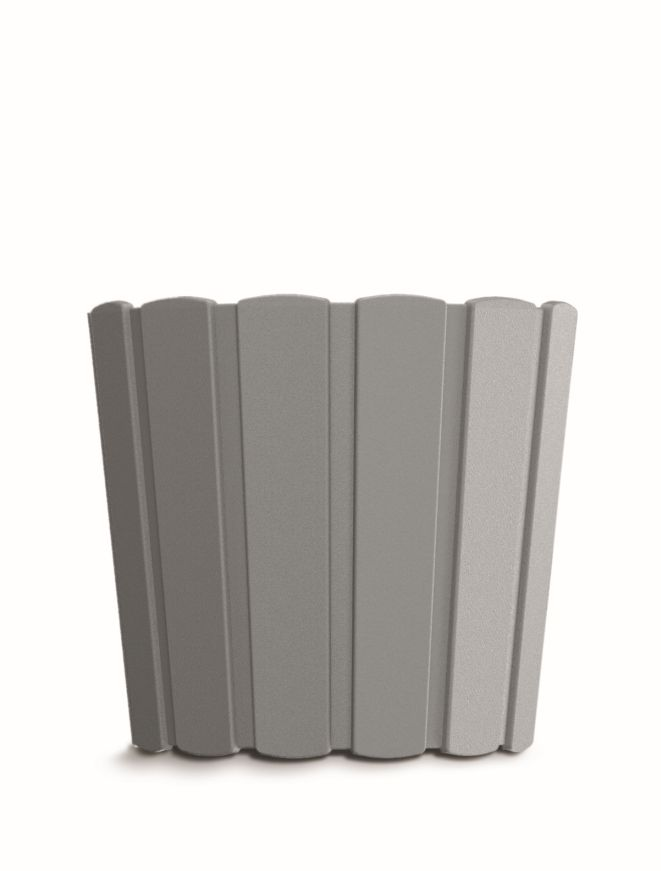 PROSPERPLAST Květináč BOARDEE BASIC šedý kámen 28,5cm