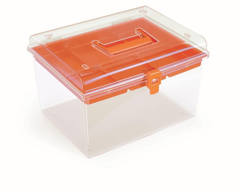 PROSPERPLAST Plastový organizér NUF HIGH 292x250x185 oranžový