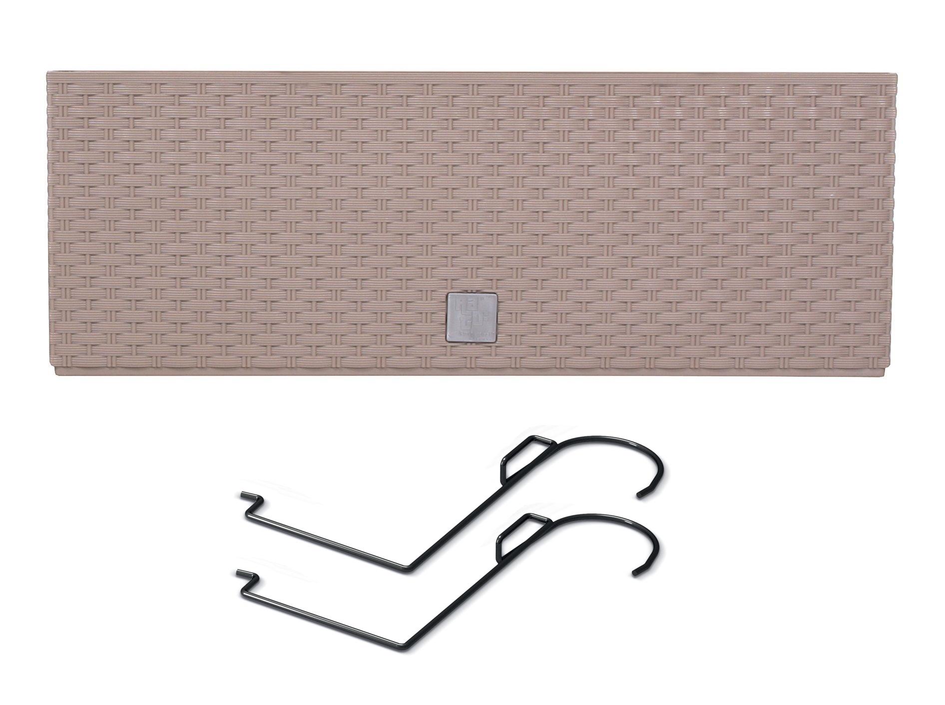 PROSPERPLAST Truhlík RATO CASE W s háky a vkladem mocca 39,5cm