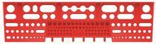 Držák na nářadí BINEER SHELFS 580x158mm, červený