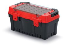 Kufr na nářadí s kov. držadlem EVO červený (krabičky)