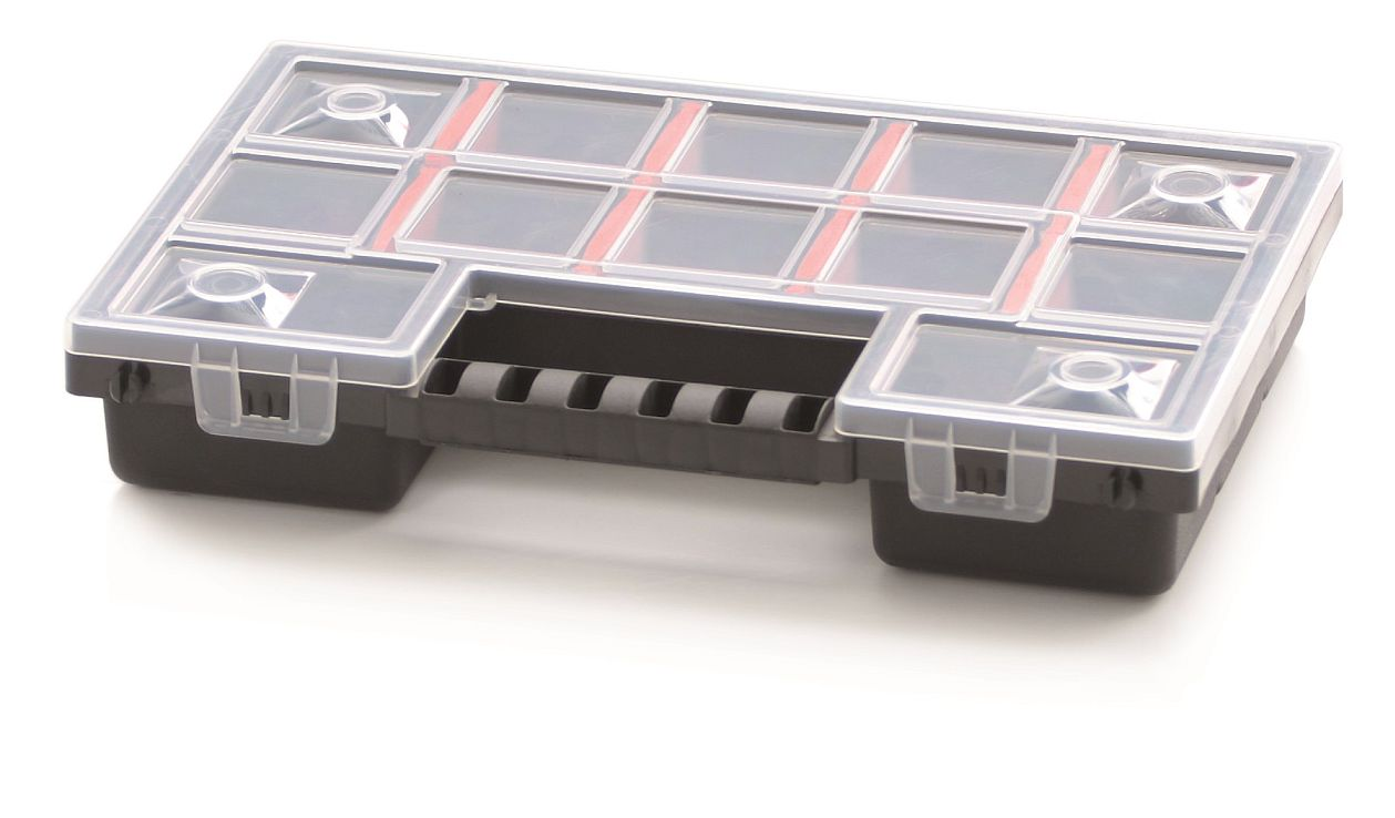 PROSPERPLAST Plastový organizér 12 přihrádek (přepážky) NORS 287x186x50
