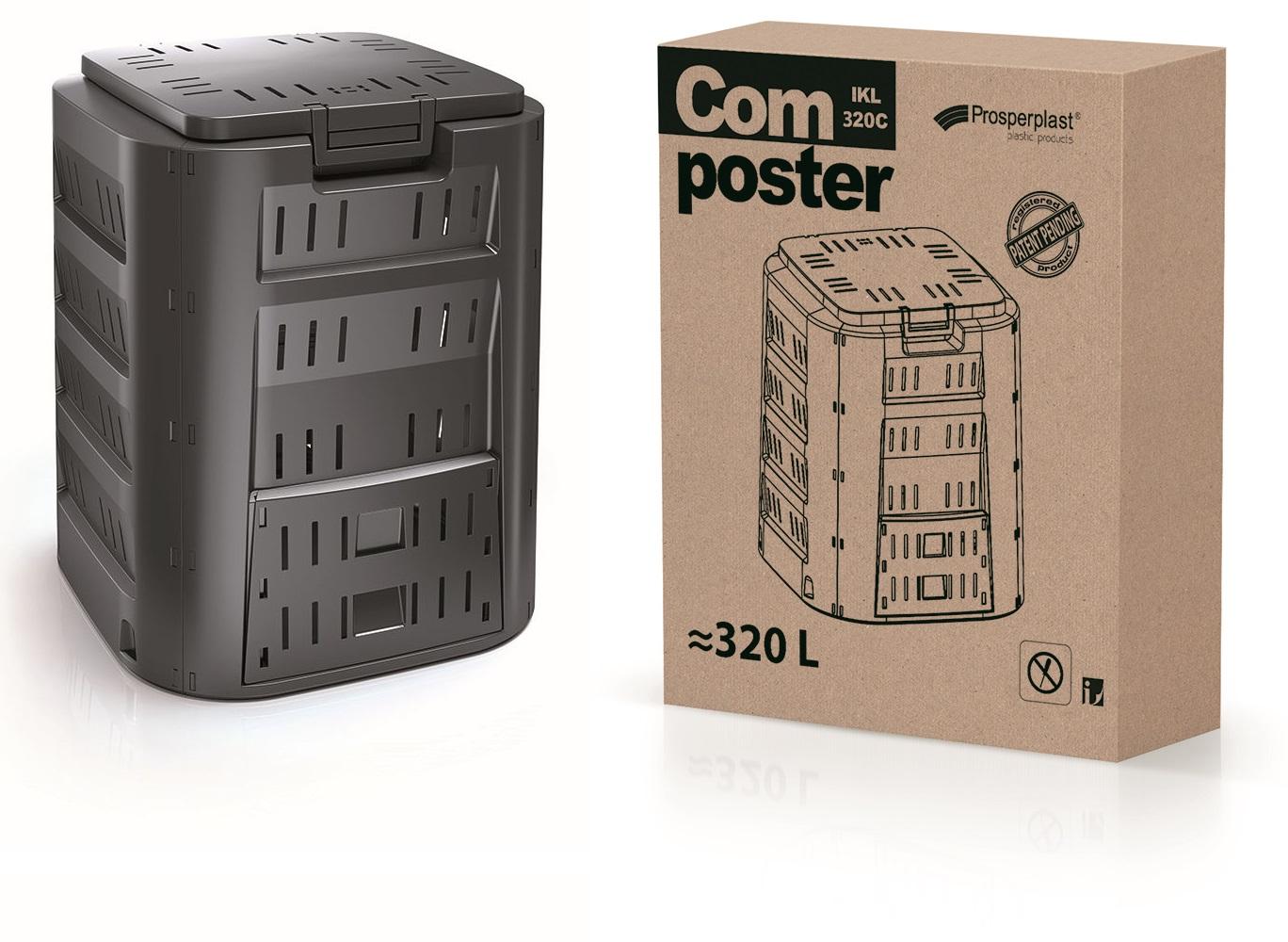 PROSPERPLAST Kompostér COMPOGREEN černý 320l