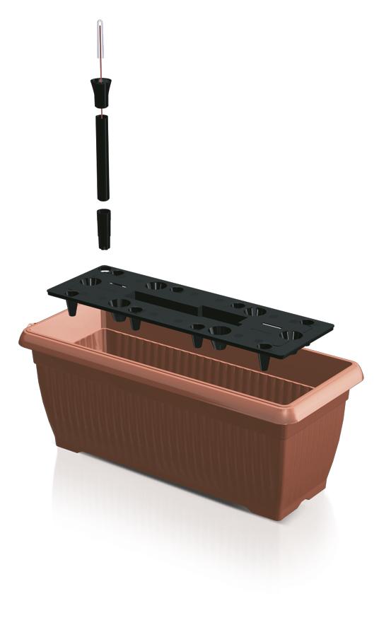 PROSPERPLAST Truhlík BALCONY CAN 60 cm + zavlažovací systém