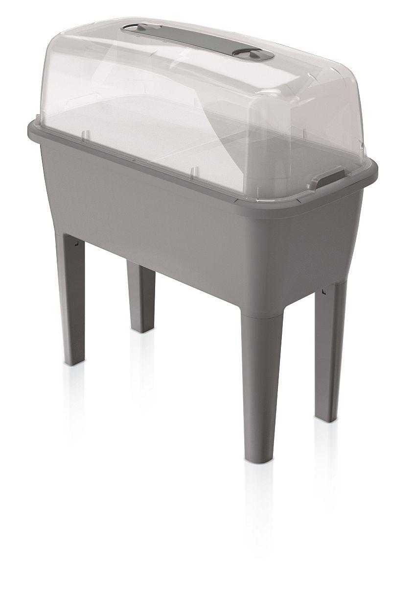 PROSPERPLAST Sadbovač set RESPANA PLANTER SET šedý kámen 77,0cm