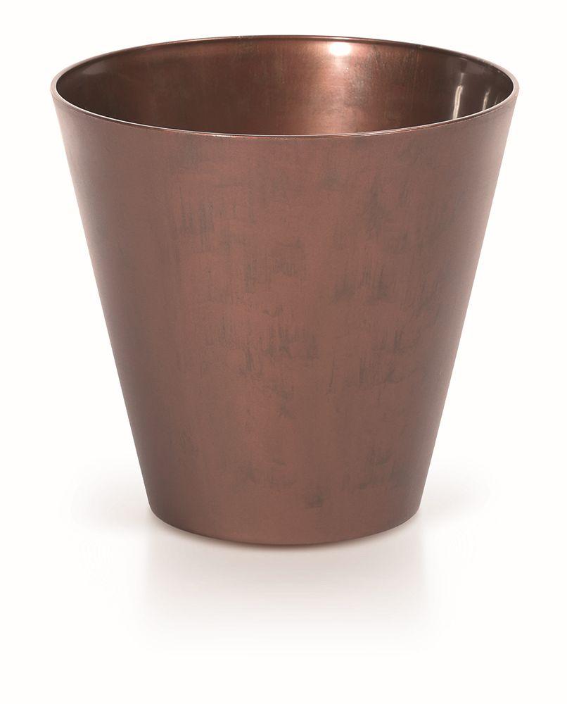 PROSPERPLAST Květináč TUBUS CORTEN patinující ocel 20 cm