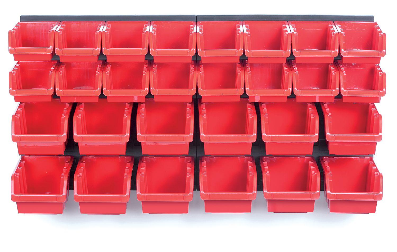PROSPERPLAST Závěsný panel s 28 boxy na nářadí ORDERLINE 800x165x400