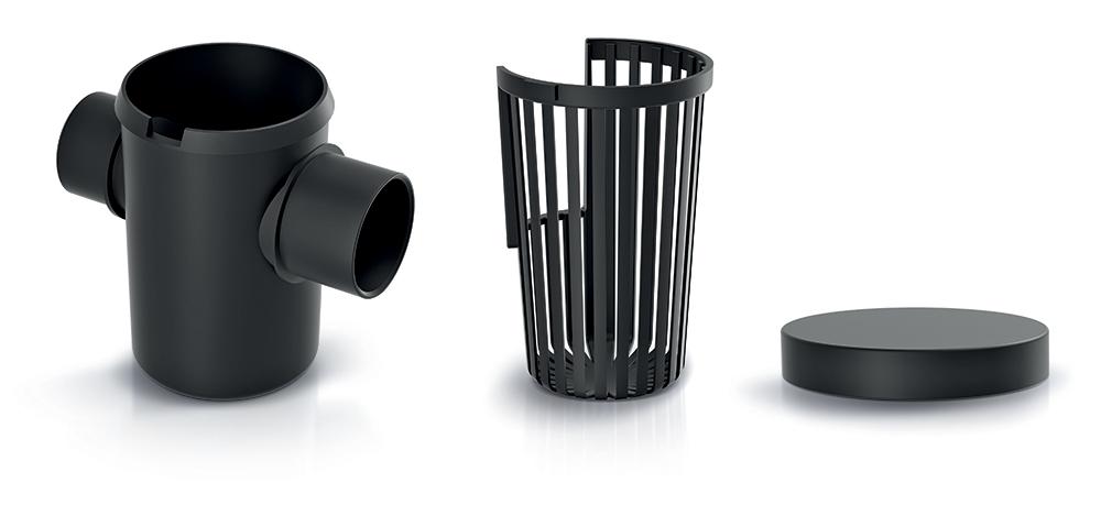 PROSPERPLAST Vnější filtr hrubých nečistot dešť. vody (3 díly)