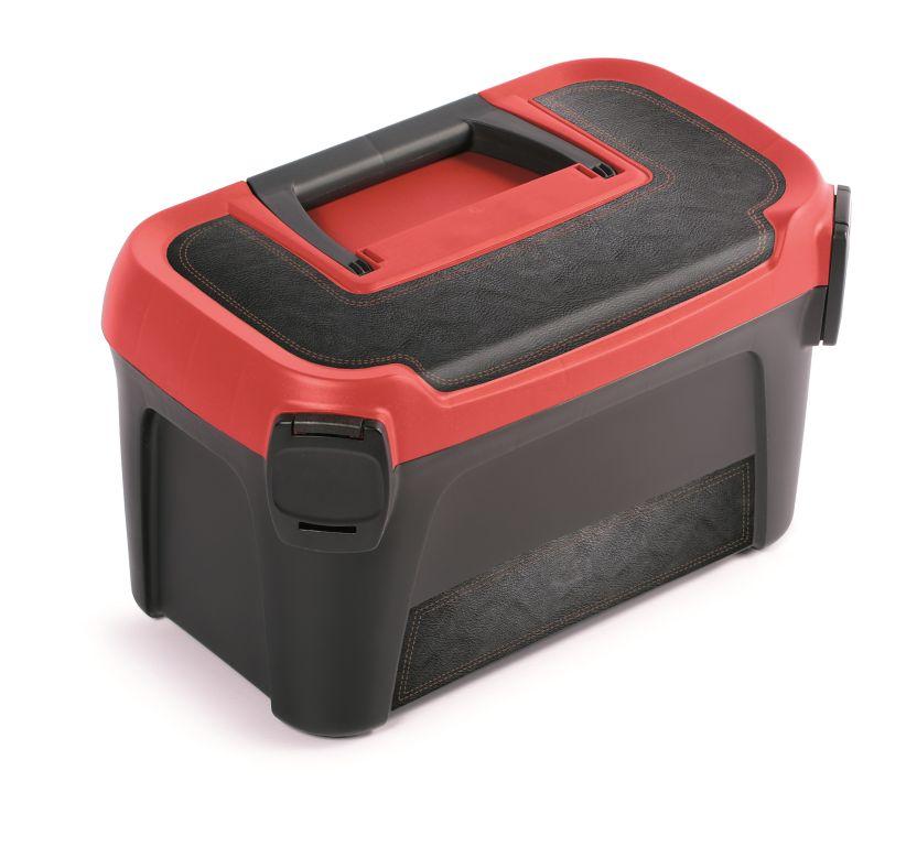 PROSPERPLAST Plastový kufr na nářadí LINE IML motiv kůže 380x234x225