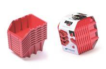 Set plastových úložných boxů 8ks BINEER LONG SET 160x98x160 červený