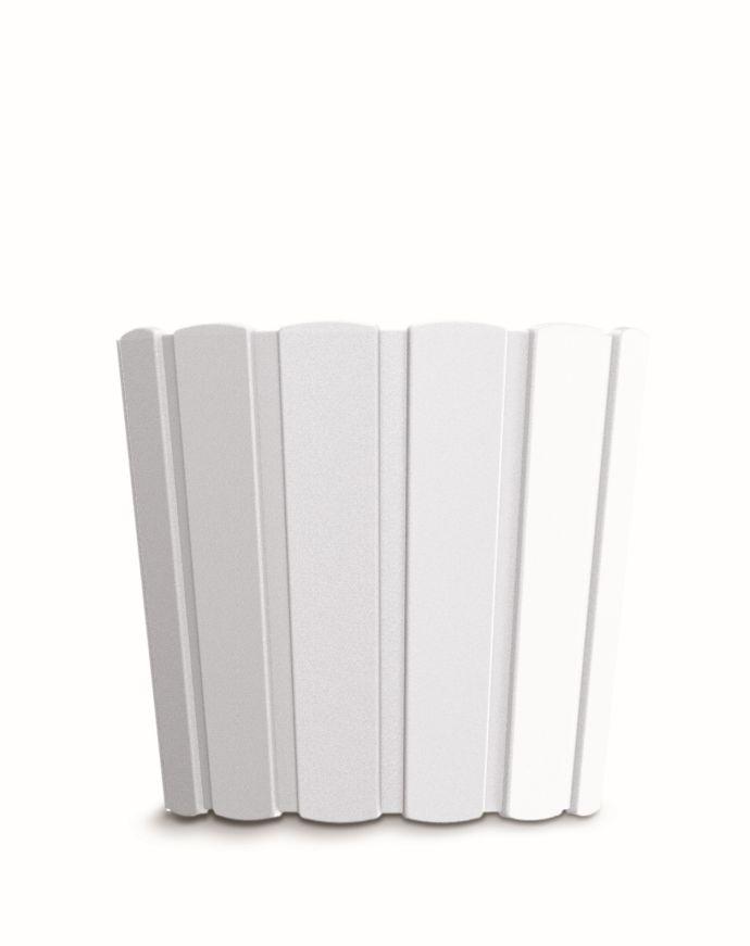 PROSPERPLAST Květináč BOARDEE BASIC bílý 28,5cm