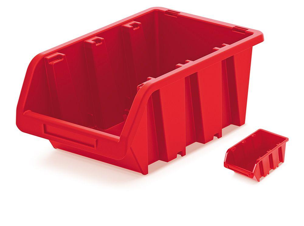 PROSPERPLAST Plastový úložný box TRUCK 115x80x60 červený