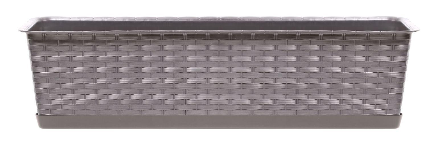 PROSPERPLAST Truhlík s miskou RATOLLA CASE mocca 39,1cm