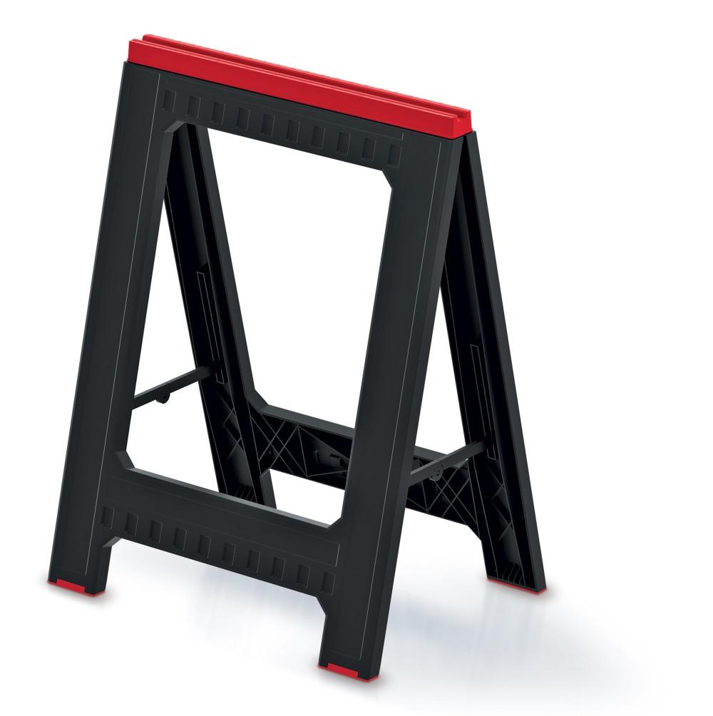 PROSPERPLAST Podstavec stavební (koza) TITAN STAND černý 580x50x793