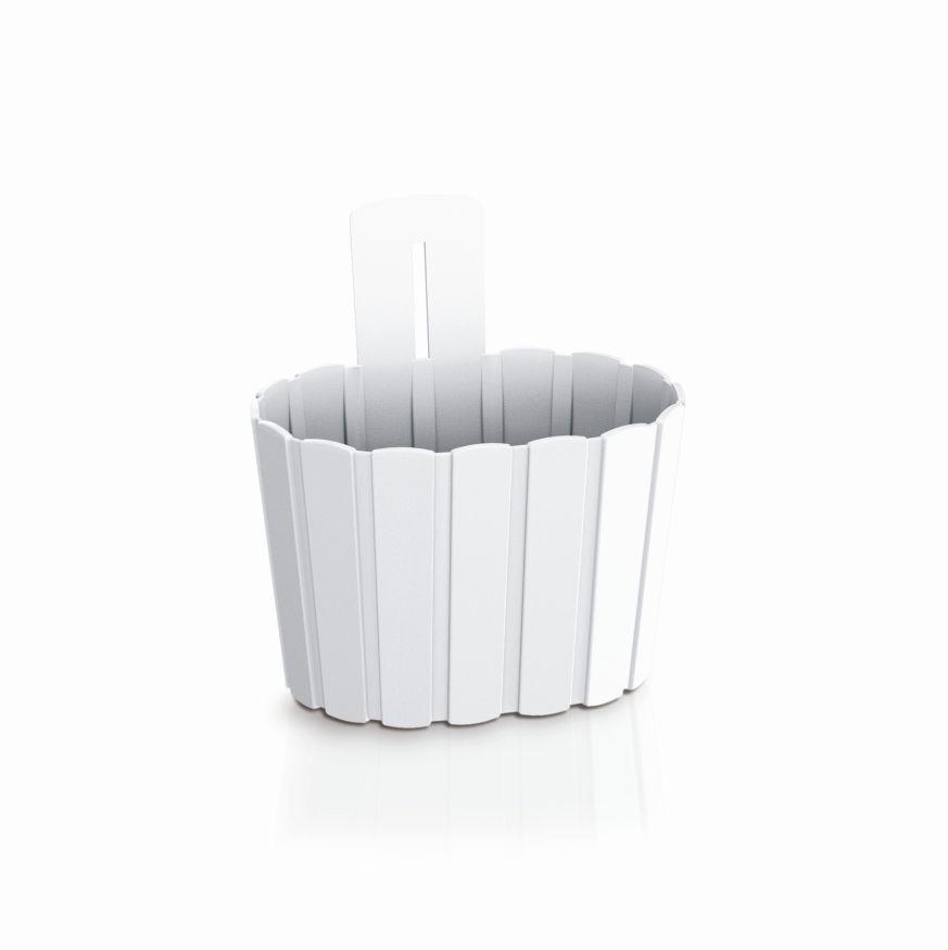 PROSPERPLAST Květináč závěsný BOARDEE WALL bílý 19,4cm