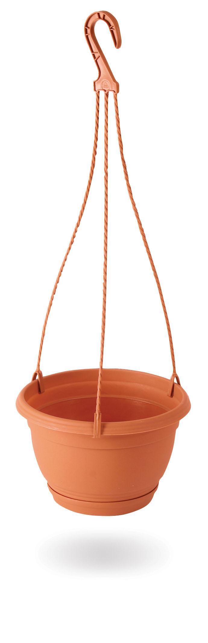 PROSPERPLAST Květináč závěsný AGRO terakota 16cm+HÁK