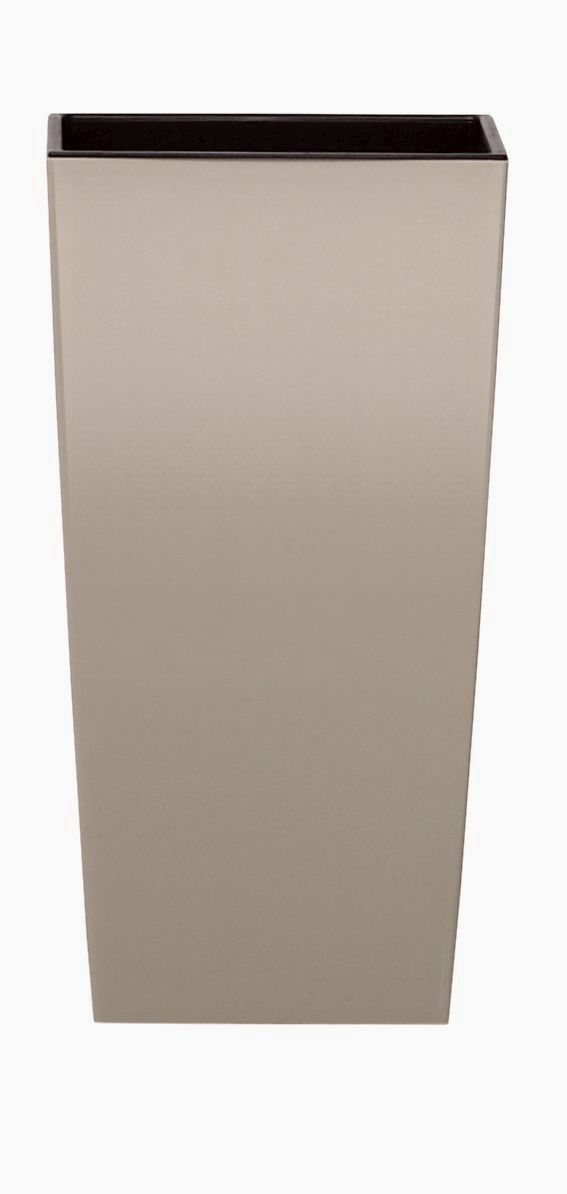 PROSPERPLAST Květináč URBI SQUARE MATT mocca 12,6cm