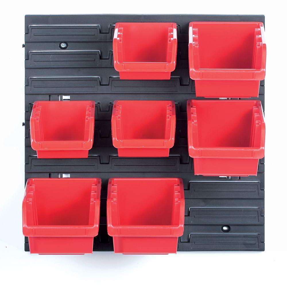 PROSPERPLAST Závěsný panel se 7 boxy na nářadí ORDERLINE 800x165x400