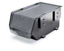 Plastový úložný box zavíratelný EXE PLUS černý