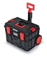 Kufr na nářadí s transp. kolečky X BLOCK PRO černý 546x380x400