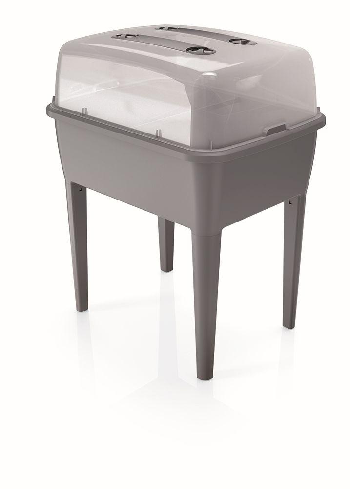 PROSPERPLAST Sadbovač RESPANA PLANTER SET šedý kámen 77 cm