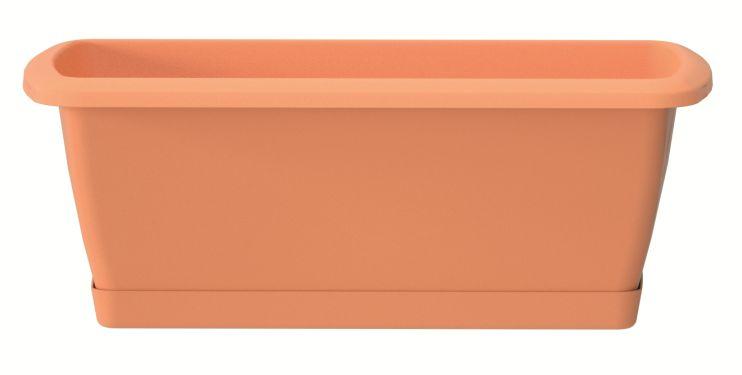 PROSPERPLAST Truhlík s miskou RESPANA SET terakota 78,6 cm