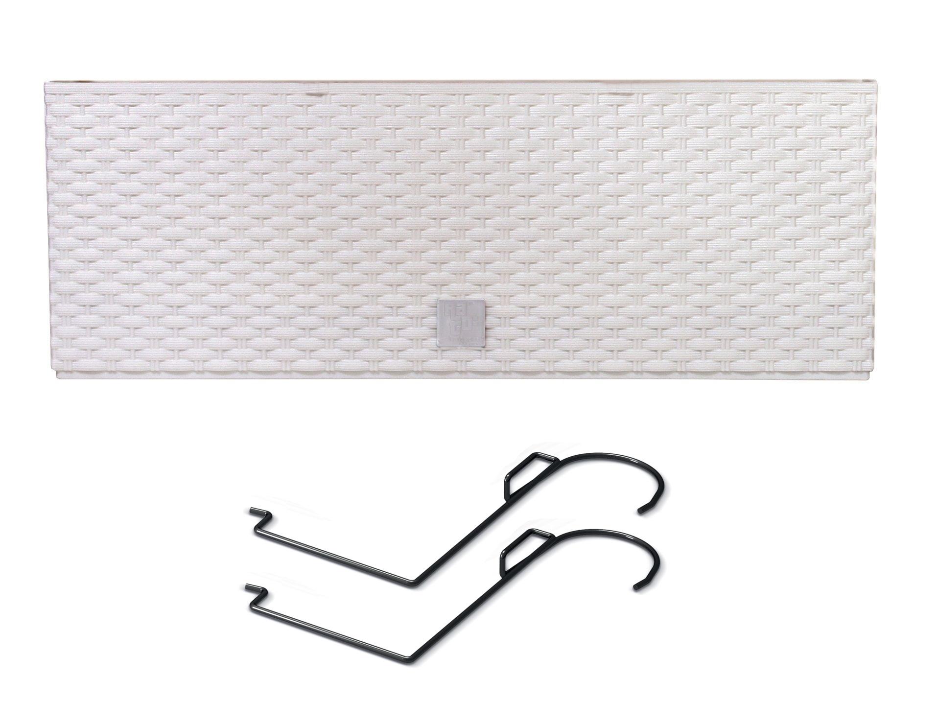 PROSPERPLAST Truhlík RATO CASE W s háky a vkladem bílý 39,5cm