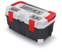 Kufr na nářadí s kov. držadlem TITAN PLUS šedý