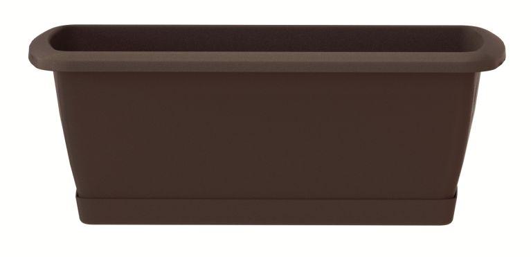 PROSPERPLAST Truhlík s miskou RESPANA SET hnědý 39,2 cm